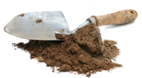 Trowel and dirt
